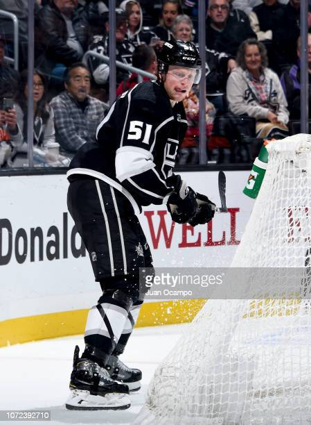 Austin Wagner of the Los Angeles Kings looks on during the first period of the game against the Edmonton Oilers at STAPLES Center on November 25 2018...
