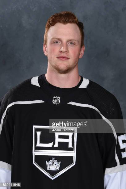 Austin Wagner of the Los Angeles Kings poses for his official headshot for the 20172018 season on September 07 2017 at the Toyota Sports Center in El...