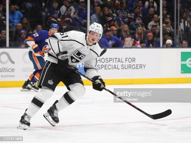 Austin Wagner of the Los Angeles Kings skates against the New York Islanders at NYCB Live's Nassau Coliseum on February 02 2019 in Uniondale New York...