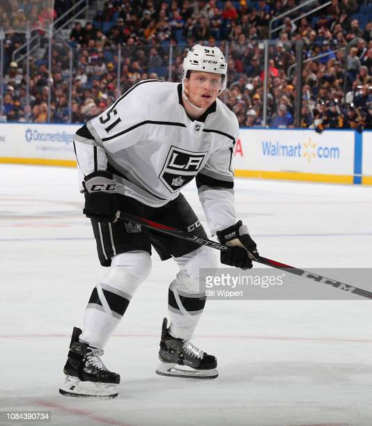 Austin Wagner of the Los Angeles Kings skates during an NHL game against the Buffalo Sabres on December 11 2018 at KeyBank Center in Buffalo New York