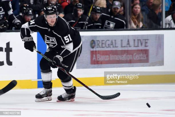Austin Wagner of the Los Angeles Kings skates during the third period of the game against the Philadelphia Flyers at STAPLES Center on November 1...