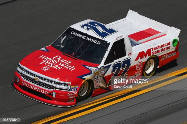 Austin Wayne Self driver of the DontMessWithTexas/AMTechSolutions Chev practices for the NASCAR Camping World Truck Series NextEra Energy Resources...