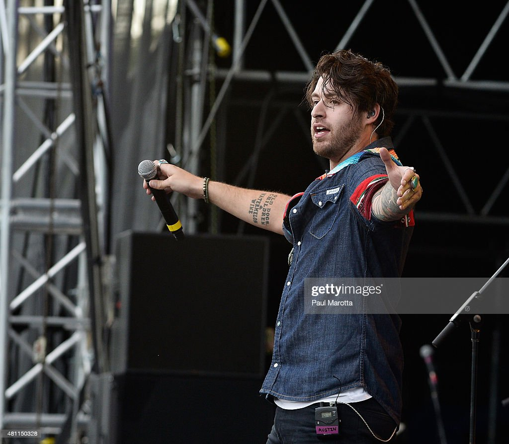 Austin Webb performs at the Outside the Box Festival Boston at Boston Common on July 17, 2015 in Boston, Massachusetts.