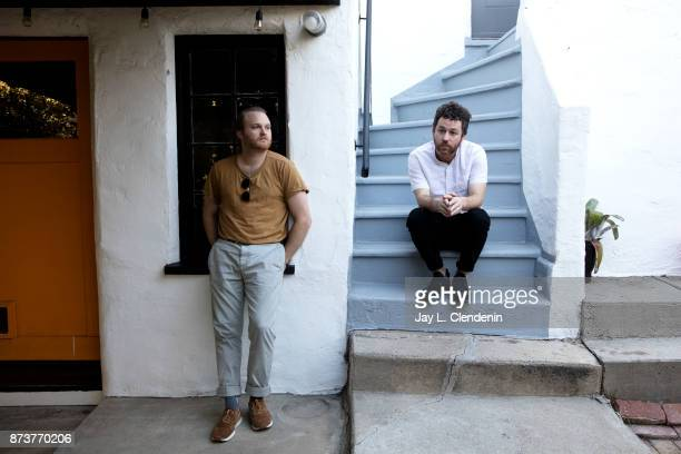 Austinbased synth players and musicians who scored Netflix's 'Stranger Things' Michael Stein Kyle Dixon are photographed for Los Angeles Times on...