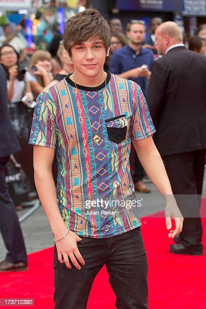 Austine Mahone attends the UK Premiere of 'The Wolverine' at Empire Leicester Square on July 16 2013 in London England