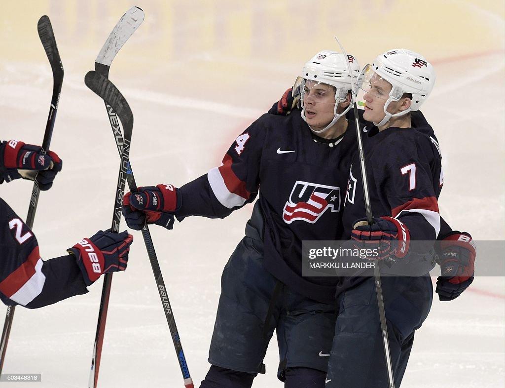 IHOCKEY-U20-SWE-USA : News Photo