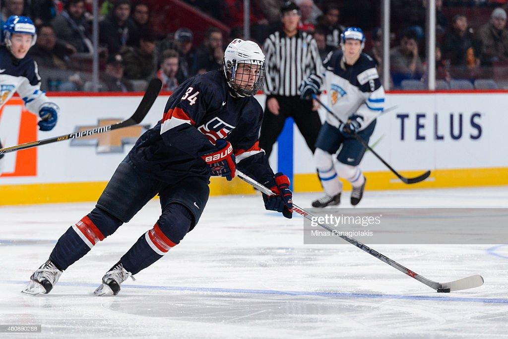 United States v Finland - 2015 IIHF World Junior Championship : News Photo