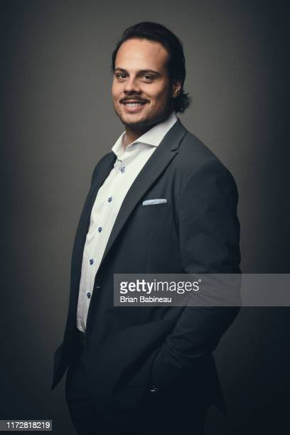 Auston Matthews of the Toronto Maple Leafs poses for a portrait for the NHL Player Media Tour on September 6 2019 in Chicago Illinoios