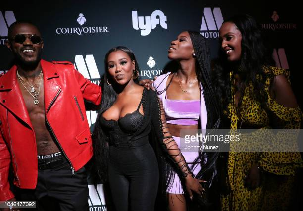 Auston Reynolds Jessika Quynn Reynolds Rey Reynolds and Ethiopia Habtemariam attend the BET Hip Hop Awards 2018 Weekend Kick Off Party at Soho House...