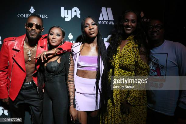 Auston Reynolds Jessika Quynn Reynolds Rey Reynolds Ethiopia Habtemariam and Marc Byers attend the BET Hip Hop Awards 2018 Weekend Kick Off Party at...