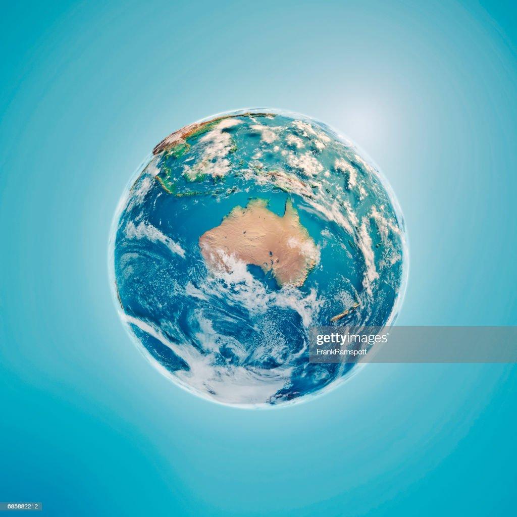Australien-3D Render Planet Erde Wolken : Stock-Foto