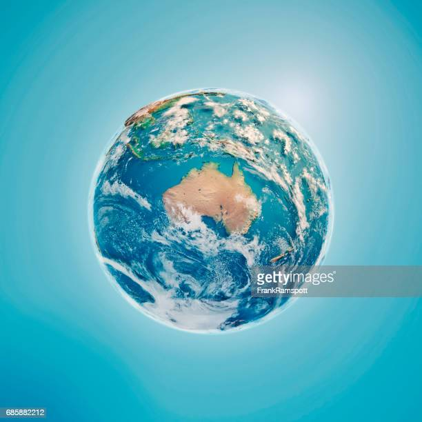 australia 3d render planet earth clouds - europa continente foto e immagini stock