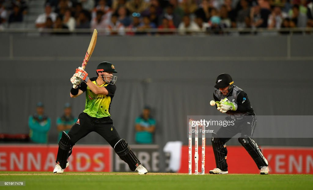 T20 Tri Series Final - New Zealand v Australia : News Photo