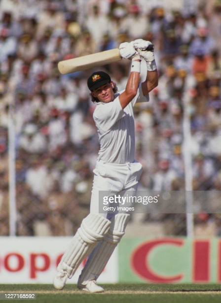 Australia batsman Dean Jones in batting action during the 1987 World Cup match against India on October 9, 1987 in Chennai, India.
