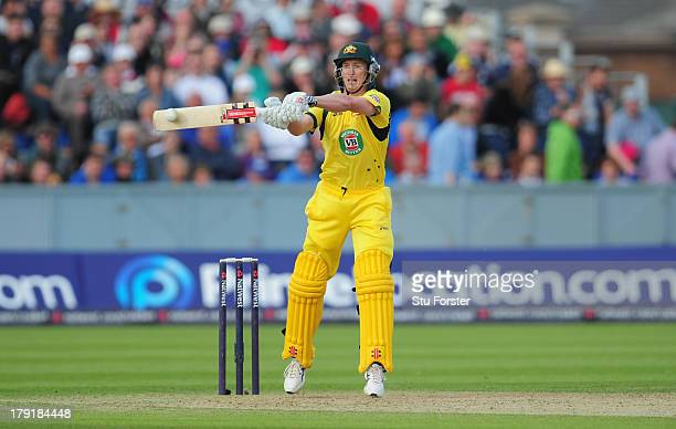 Australia batsman George Bailey in action during the 2nd NatWest series T20 match between England and Australia at Emirates Durham ICG on August 31...