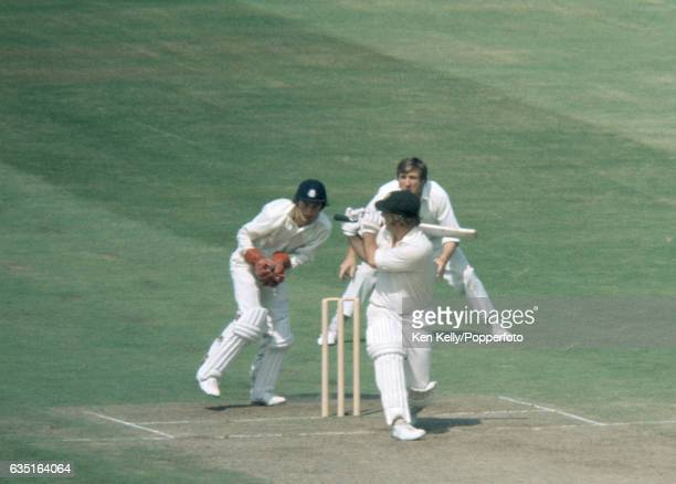 Australia batsman Rod Marsh is out for 1 run caught by England wicketkeeper Alan Knott in the 2nd innings of the 4th Test match between England and...