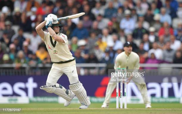 Australia batsman Steve Smith picks up some runs during day two of the 4th Ashes Test Match between England and Australia at Old Trafford on...