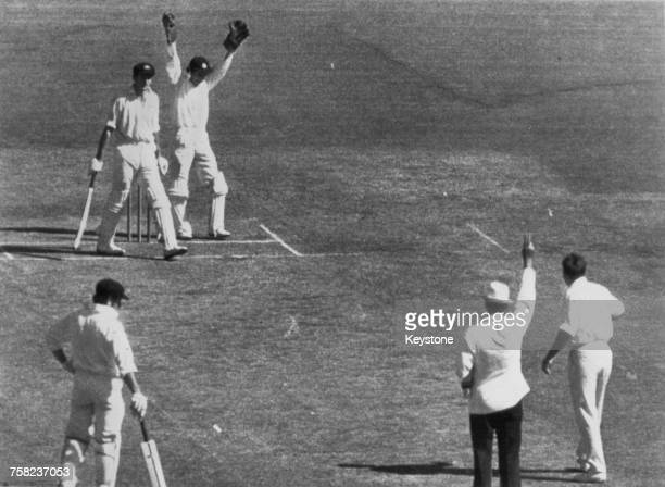 Australia captain Bill Lawry is out for 27 after being caught by Alan Knott off Ray Illingworth during the first One Day International between...