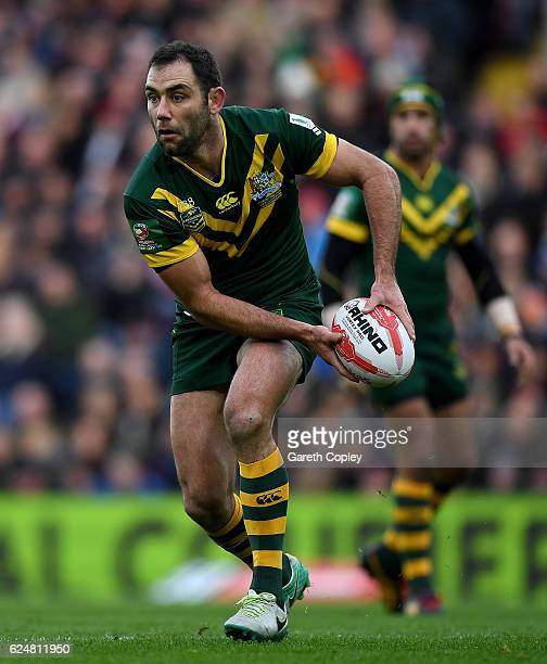 Australia captain Cameron Smith during the Four Nations match between the New Zealand Kiwis and Australian Kangaroos at Anfield on November 20 2016...
