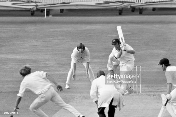Australia captain Ian Chappell batting during his innings of 62 during the 3rd Test match between England and Australia at Headingley Leeds 18th...