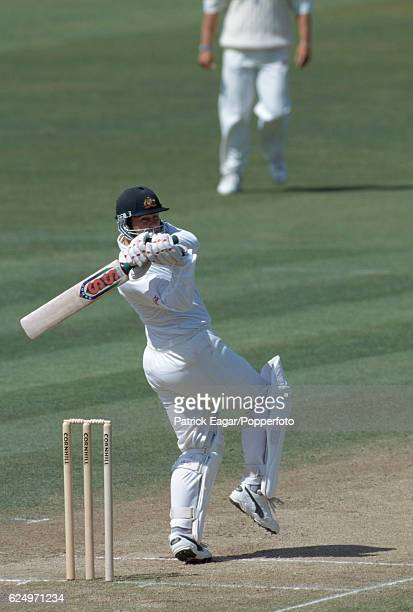 Australia captain Mark Taylor batting during his innings of 129 in the 1st Test match between England and Australia at Edgbaston Birmingham 7th June...