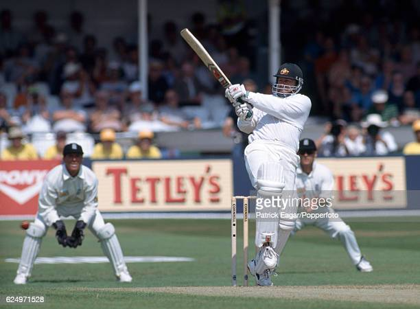 Australia captain Mark Taylor batting during the 5th Test match between England and Australia at Trent Bridge Nottingham 7th August 1997 The...