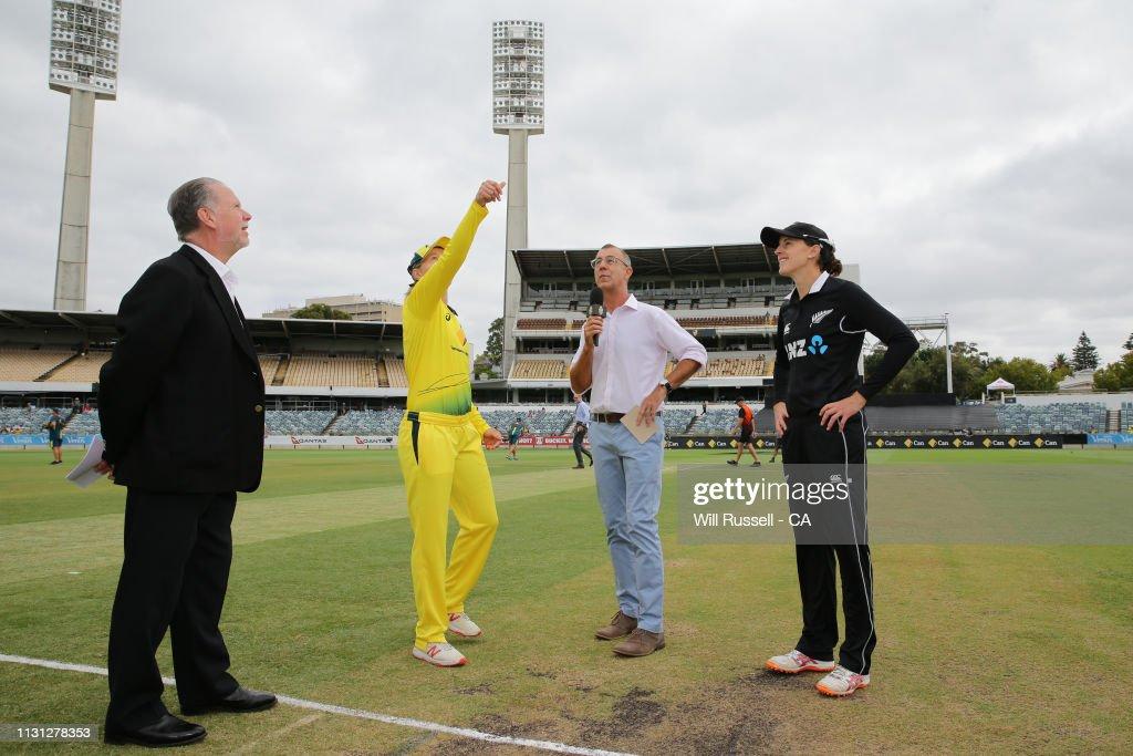 AUS: Australia v New Zealand - 1st ODI