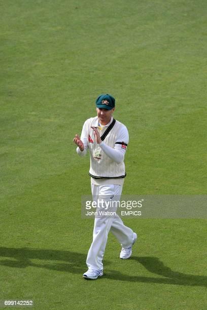 Australia captain Michael Clarke walks from the field of play