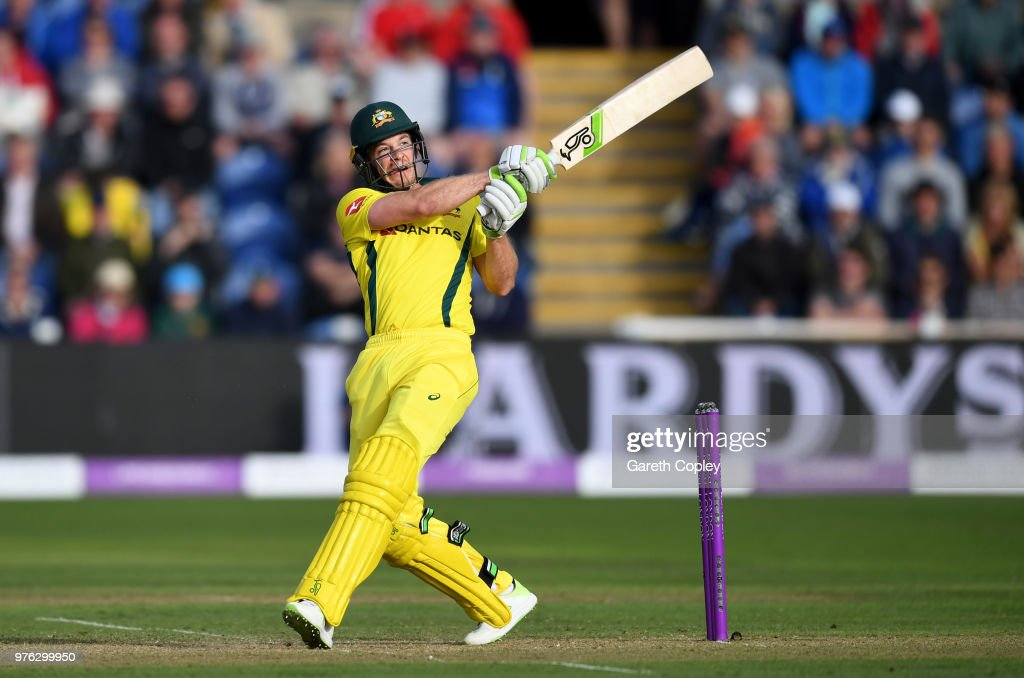 Australia captain Tim Paine bats during the 2nd Royal London ODI between England and Australia at SWALEC Stadium on June 16, 2018 in Cardiff, Wales.