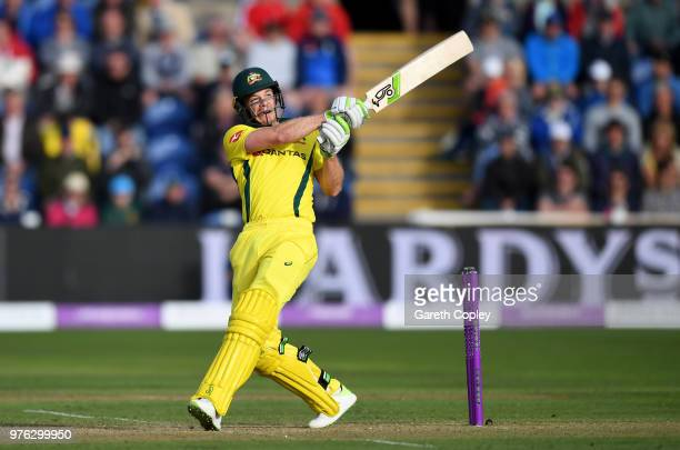 Australia captain Tim Paine bats during the 2nd Royal London ODI between England and Australia at SWALEC Stadium on June 16 2018 in Cardiff Wales