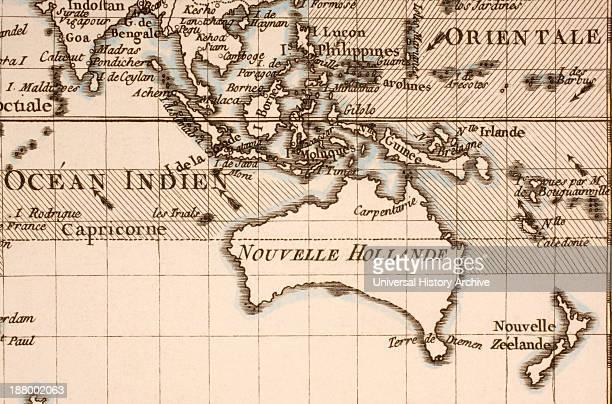 Australia Circa 1760 Mercator Projection From Atlas De Toutes Les Parties Connues Du Globe Terrestre By Cartographer Rigobert Bonne Published Geneva...