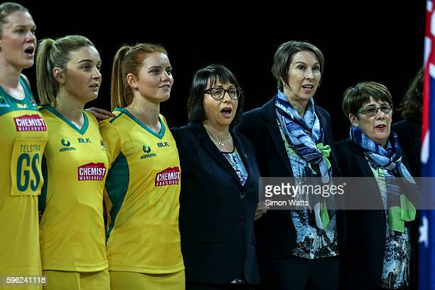 Australia coach Lisa Alexander during the International Test Match between Australia and South Africa on August 27 2016 at Vector Arena Auckland New...