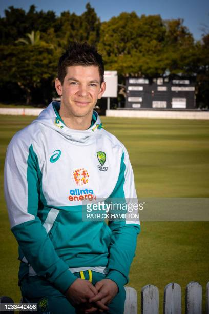 Australia cricket team captain Tim Paine poses for a picture after a press conference to discuss his preparation to defend the Ashes against England...