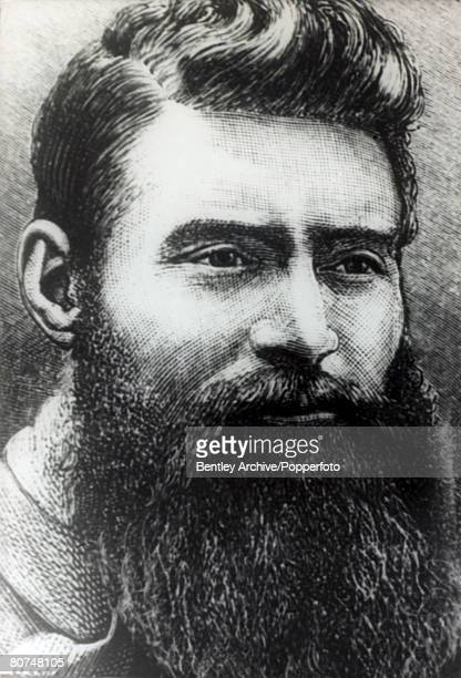 circa 1870's Ned Kelly Australian bushranger the 'Robin Hood' of the Australian bush