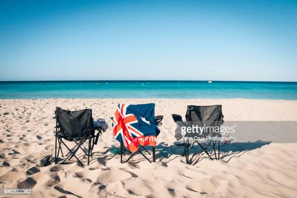 australia day beach - australia day stock pictures, royalty-free photos & images