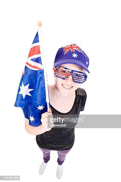 australia day girl - australia day stock pictures, royalty-free photos & images
