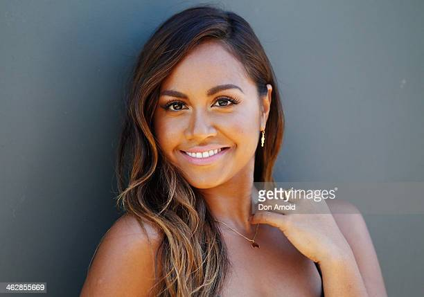 Australia Day Harbour Concert Series performer Jessica Mauboy poses at the launch of the 2014 Australia Day Program on January 16 2014 in Sydney...