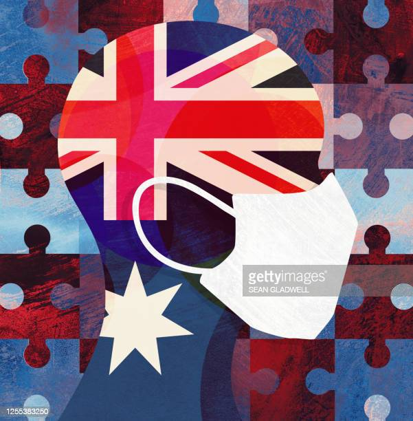 australia face mask - illustration stock pictures, royalty-free photos & images