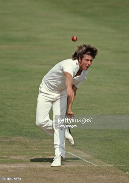 Australia fast bowler Jeff Thomson in action during an ODI against England at the Oval on August 20 1980 in London England
