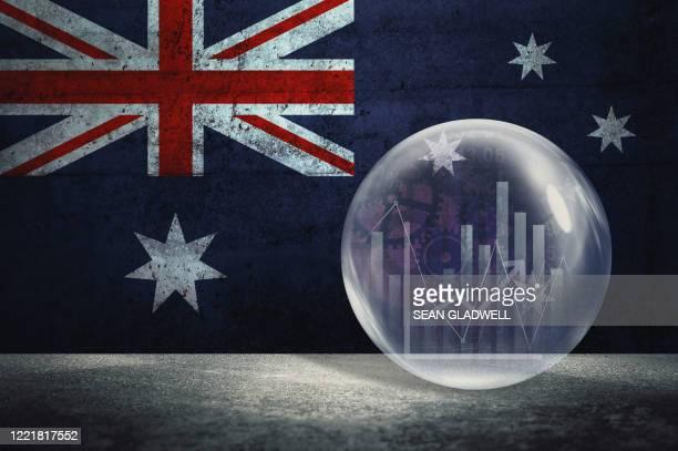 australia financial bubble - australia stock pictures, royalty-free photos & images