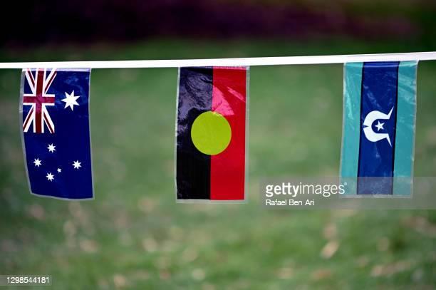 australia flags backgrounds - rafael ben ari stock-fotos und bilder