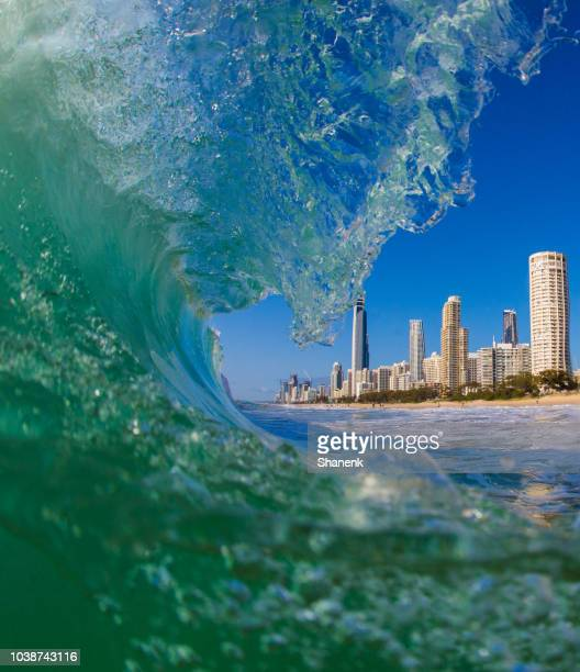 australia, gold coast - gold coast queensland stock pictures, royalty-free photos & images
