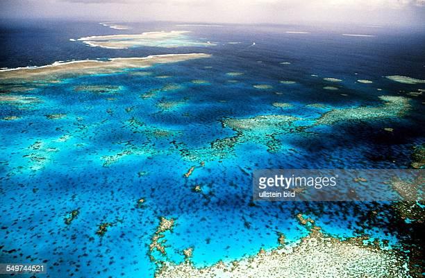 AUS Australia Great Barrier Reef aerial photograph UNESCO world cultural heritage