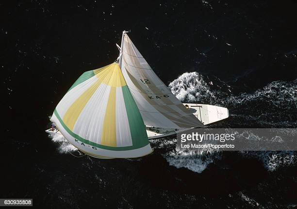 Australia II in action during the America's Cup series at Newport Rhode Island 14th September 1983 In September 1983 the 12 metre yacht Australia II...