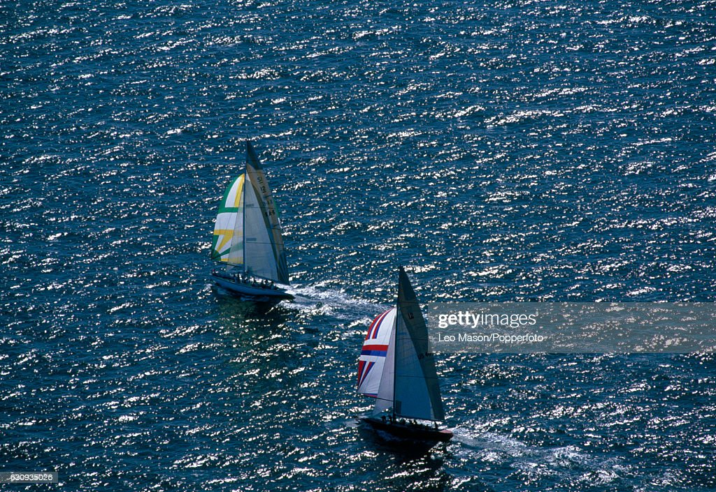 America's Cup Yacht Racing - USA v Australia : News Photo