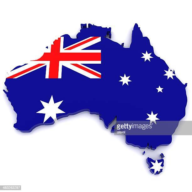 australia map - australian flag stock pictures, royalty-free photos & images