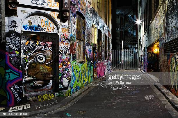 Australia, Melbourne, Graffiti on wall