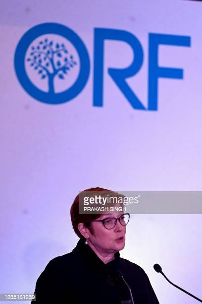 """Australia Minister for Foreign Affairs and Minister for Women Marise Payne delivers the keynote address """"Third Indo-Pacific Oration"""" hosted by the..."""