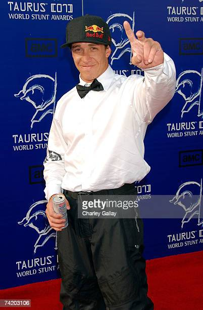 Australia motorcyclist Robbie Maddison arrives at the 7th Annual Taurus World Stunt Awards at Paramount Pictures on May 20 2007 in Los Angeles...
