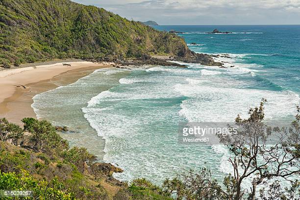 Australia, New South Wales, Byron Bay, Broken Head nature reserve, view over bay